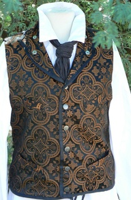 brocade on vest